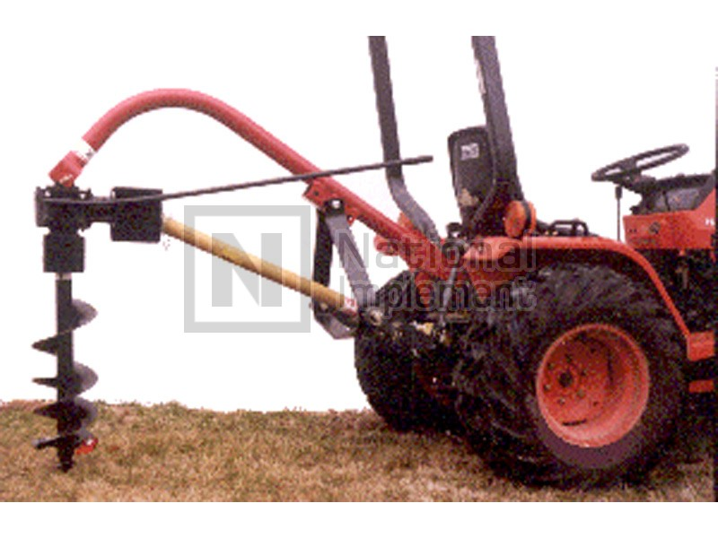 Worksaver Low Profile Sub Compact Tractor Post Hole Digger