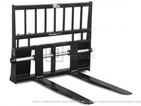 "48"" 5,500 lbs. Heavy Lift Skid Steer Shaft-Mounted Pallet Forks Model 1PFSMHL48"