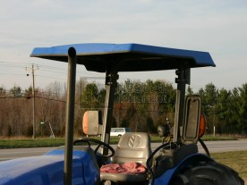 "51"" x 55"" Large Blue ABS Plastic Tractor Canopy"