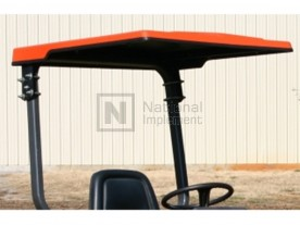 "51"" x 55"" Large Orange ABS Plastic Tractor Canopy"