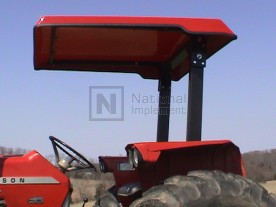 "51"" x 55"" Large Red ABS Plastic Tractor Canopy"