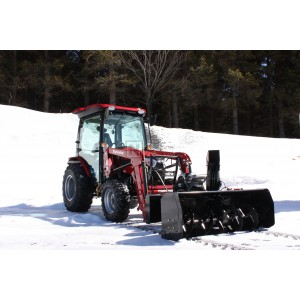 """54"""" Bercomac Premium Front-Mount Tractor Snow Blower, Skid Steer Style Quick-Attach, 22HP Honda Engine, Model 700716-4SS"""