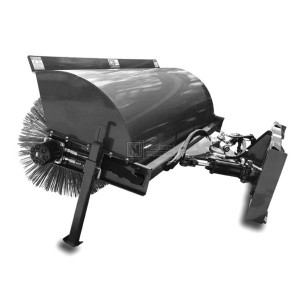 "48"" Angle Broom for Skid Steer with Hydraulic Angle (Model HAB48)"