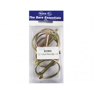 """Bare-Co 1/4"""" Linch Pin 6 Pack Part B1902 - FREE Shipping!"""