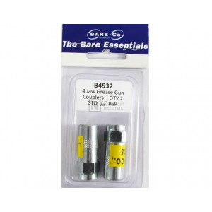 """Bare-Co Jaw Grease Gun Couplers STD 1/8"""" BSP Part B4532 - Quantity 2 - FREE Shipping!"""
