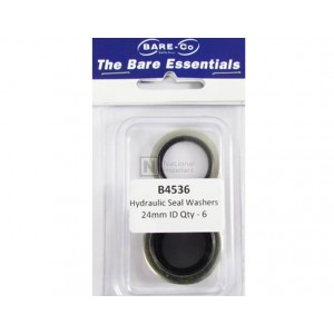 """Bare-Co Hydraulic Seal Washers 9/10"""" ID Part B4536- Quantity 6"""