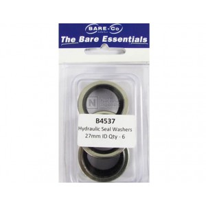 """Bare-Co Hydraulic Seal Washers 1"""" ID Part B4537- Quantity 6"""