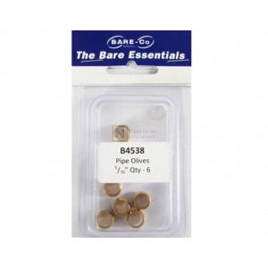 """Bare-Co Pipe Olives 5/16"""" Part B4538 - Quantity 6 - FREE Shipping!"""