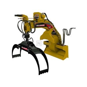 Wallenstein Skid Steer Extendable Boom Hydraulic Rotation Log Grapple Model LXG430RP